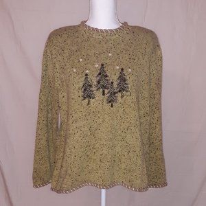 C.J. Banks 1X Winter Sweater with Button Accent